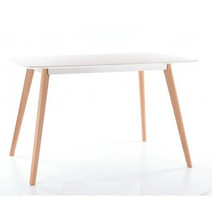 Galds MILAN 120 (white/oak)
