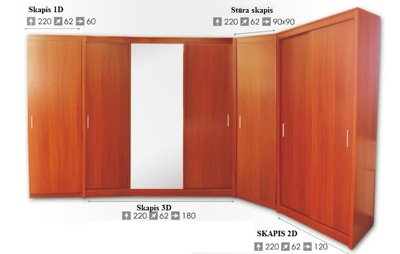Angular closets - Сostly Wardrobe TRIO Sale Furniture